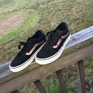 VANS (with rose gold detail)